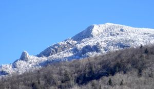 Grandfather Mountain in Snow