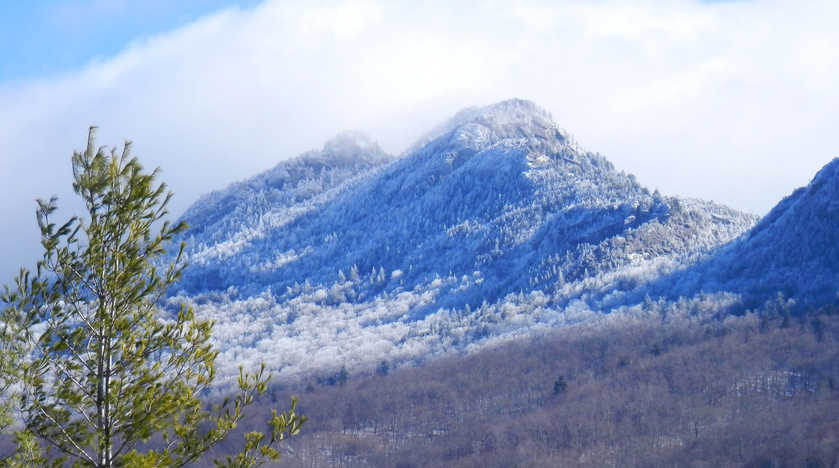 Grandfather Mountain In Snow Living In The Blue Ridge