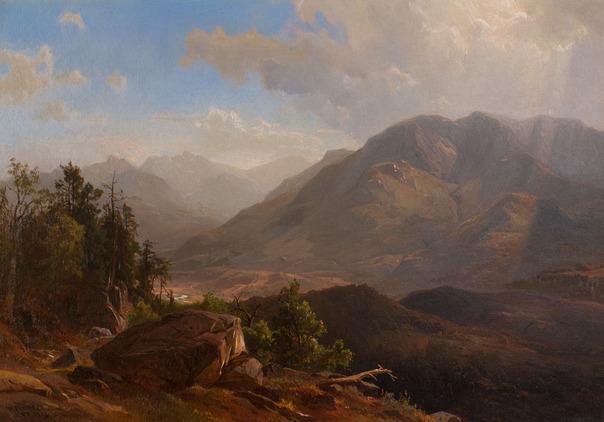 Herman Fuechsel  (1833-1915)  Keene Valley, Adirondacks   1876