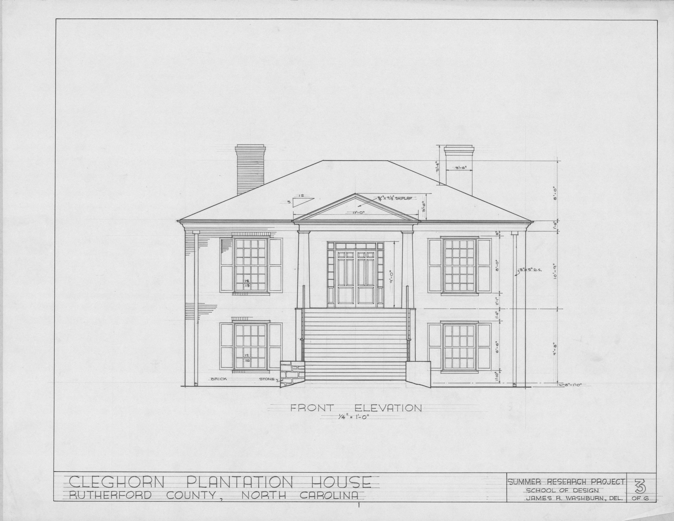 Front Elevation Plan Dwg : Front view of drawing plan