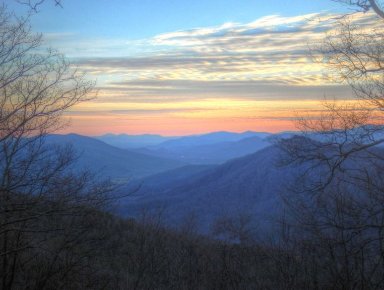 Linville Gorge Sunset Valley