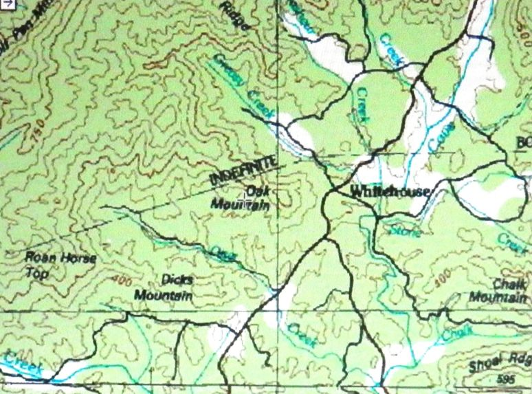 Oak Mountain Map