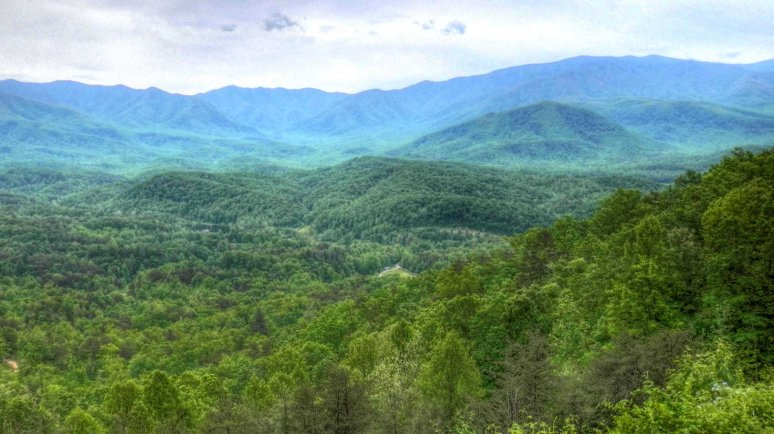 Great Smoky Mountains Park from Tennessee