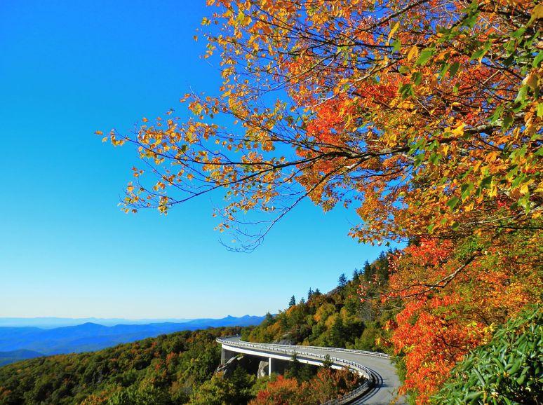 Linn Cove Viaduct in Autumn