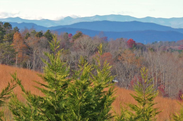 Blue Ridge Mountains from Rutherfordton