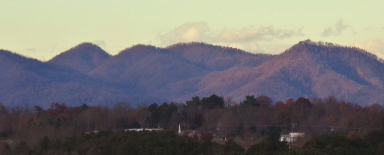 Pinnacle Peak from Rutherfordton