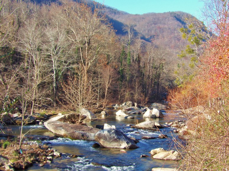 Rocky Broad River in December