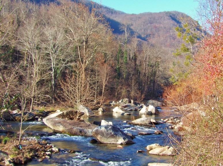 Rocky Broad River in December