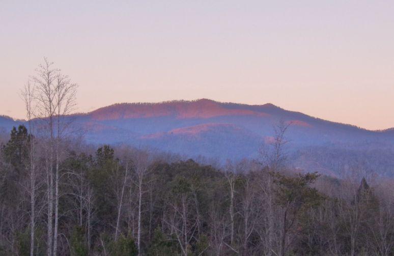 Hickorynut Mountain Sunset