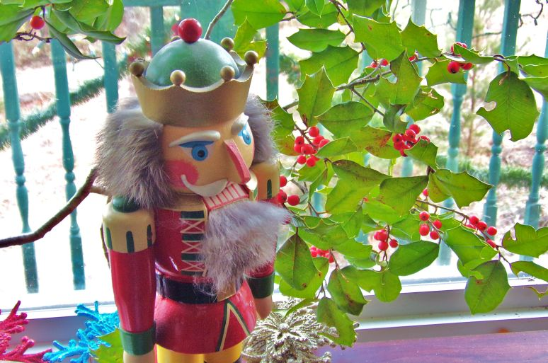 Holly with Nutcracker