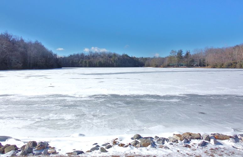 Frozen Lake at Linville Village