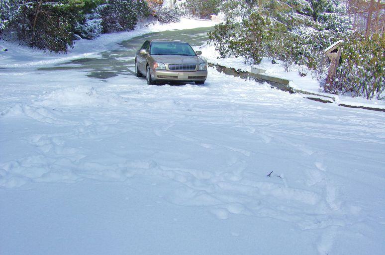 Cadillac in Snow at Sugar Mountain
