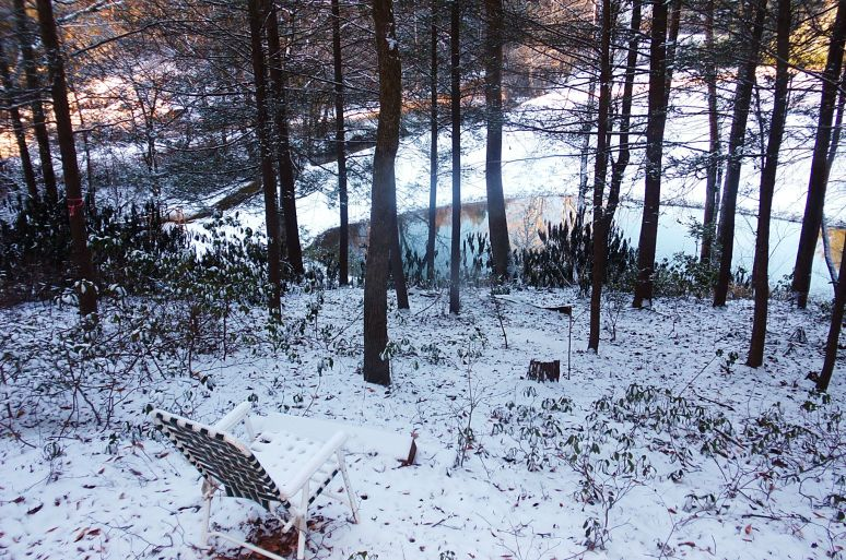 Otter Creek Valley Ponds in snow