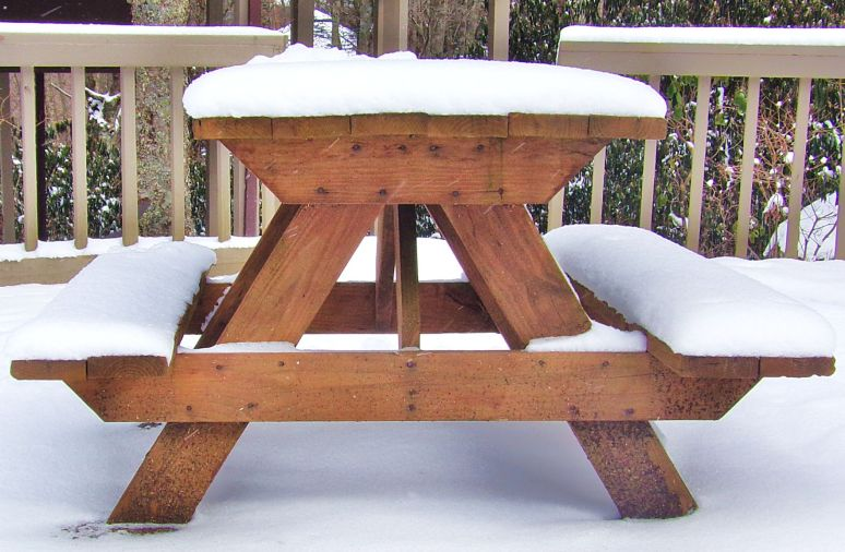 Picnic Table at Sugar Mountain