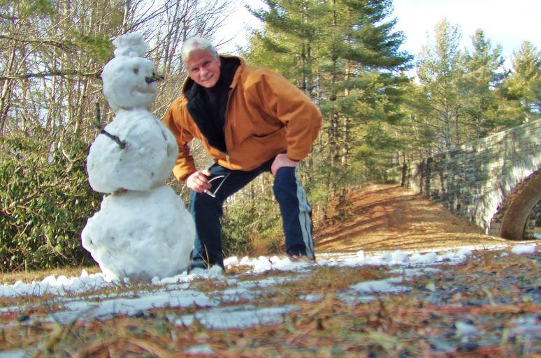 Blue Ridge Parkway Snowman