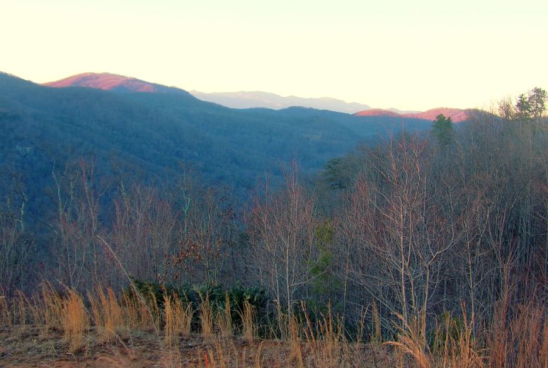 Toward Mt. Mitchell from Lake Lure