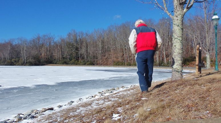 Linville Lake in January