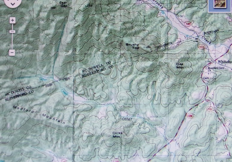 Map of Otter Creek Valley