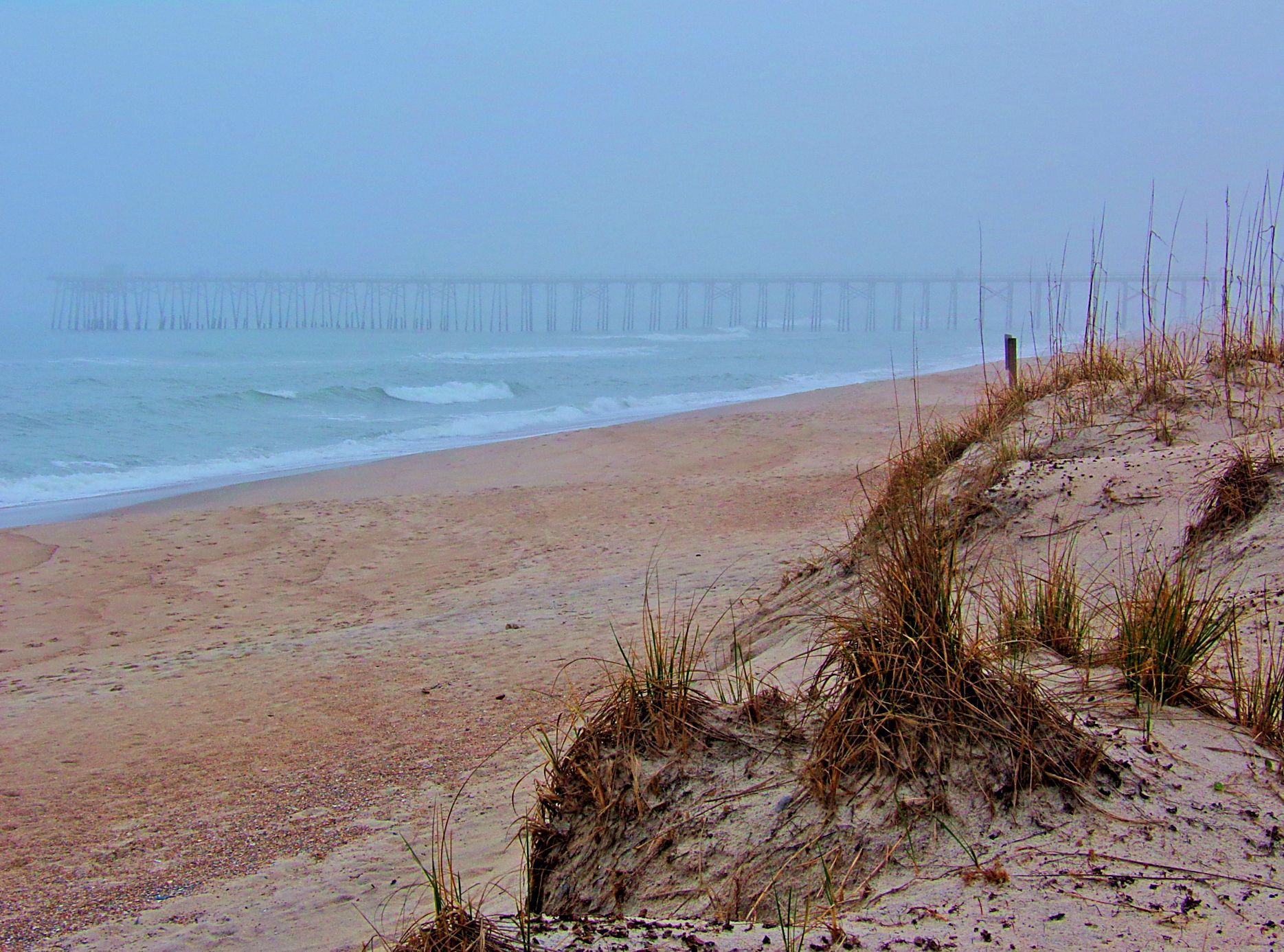 Visiting a north carolina barrier island living in the for Carolina beach fishing pier