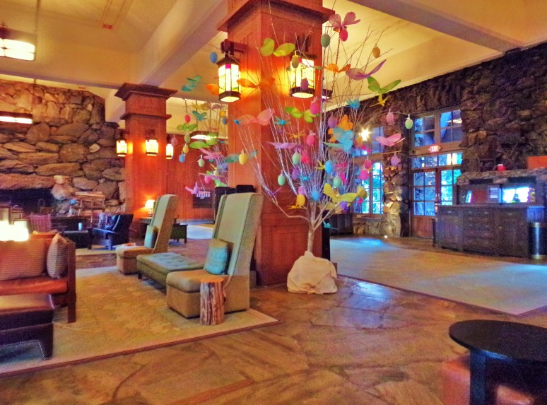 Grove Park Inn Lobby in Spring