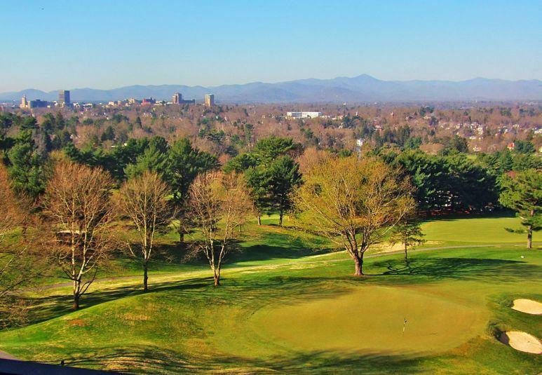 Asheville Skyline from Grove Park