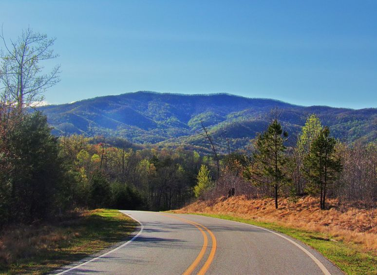 Hickory Nut Mountain in Spring