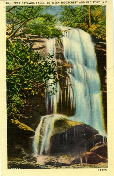 Upper Catawba Falls Postcard