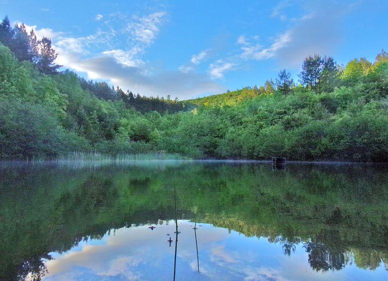 High Lodges Pond at Sunset