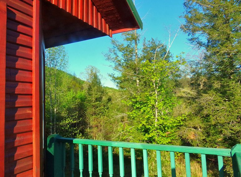 Hemlock House Deck Sunrise