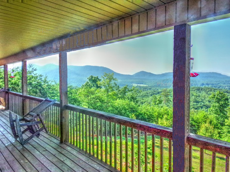 Laurel Valley Cabin Deck