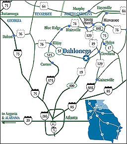 Dahlonega Map