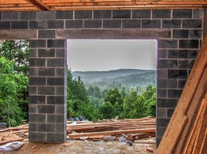 Log Home Basement on Brushy Top