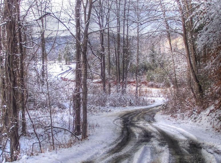 Otter Creek Road in snow