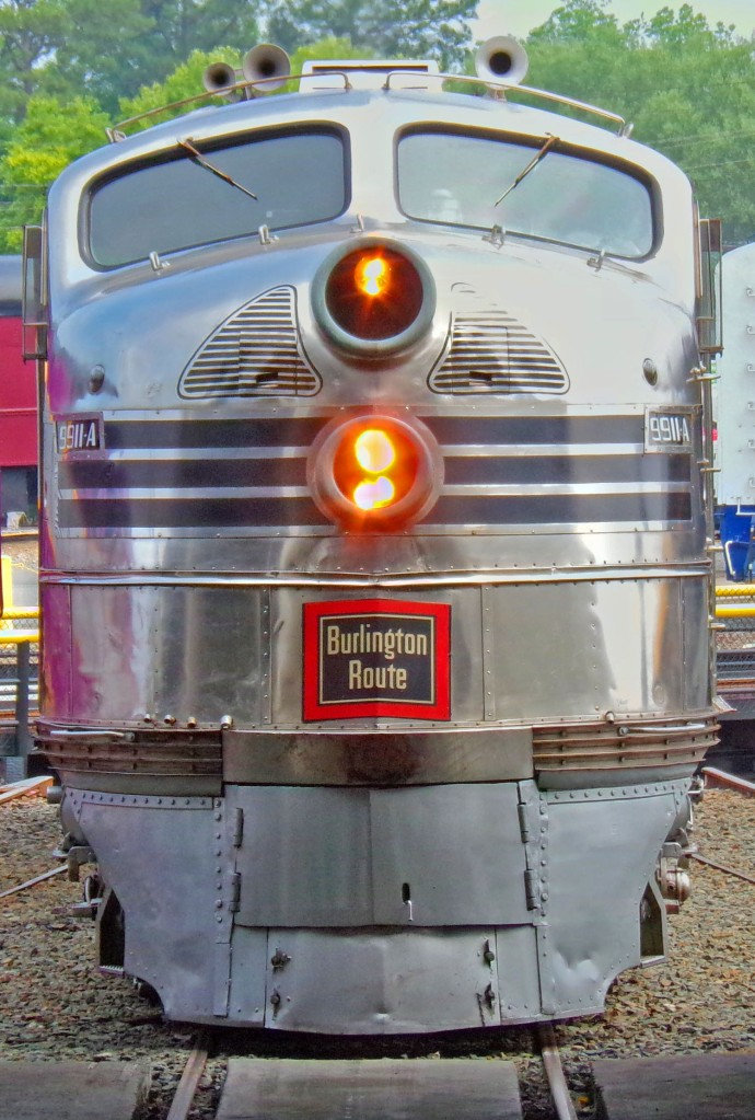 Burlington Silver Locomotive