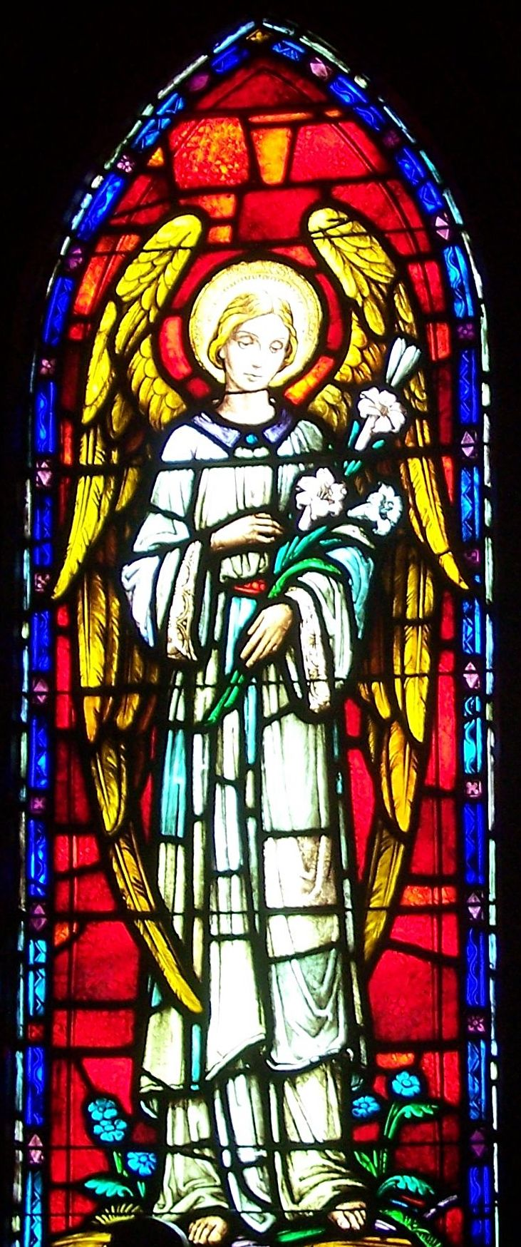 St. Francis Angel stained glass
