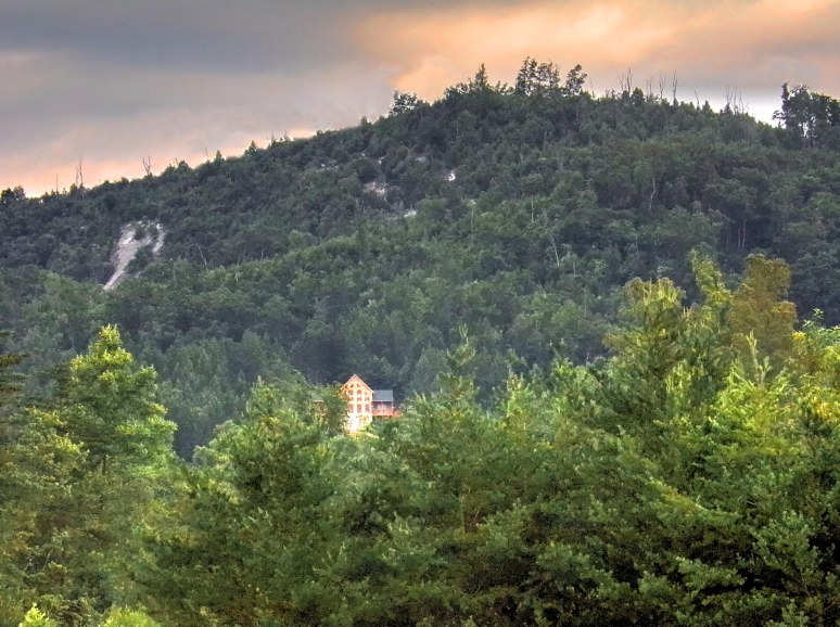 Brushy Top Log Home at Sunrise