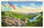 Chimney Rock postcard flag5