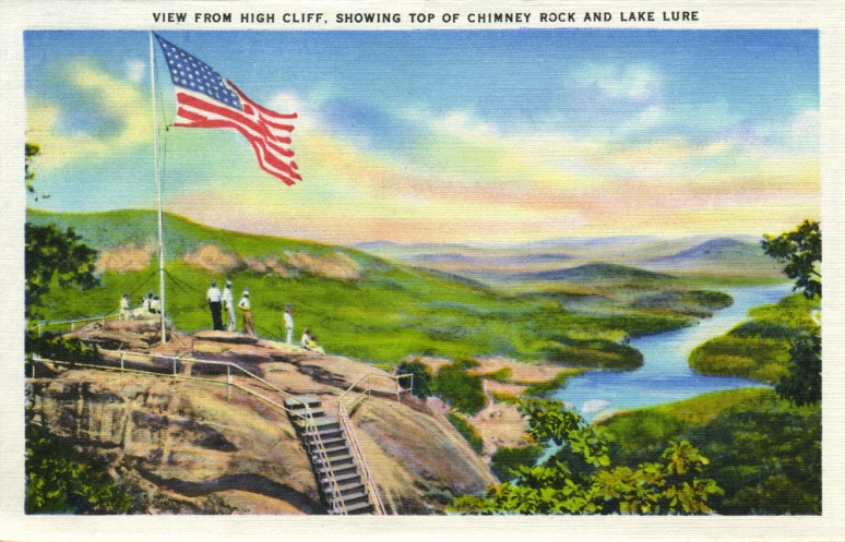Chimney Rock postcard flag 5