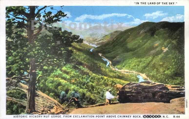 Chimney Rock postcard gorge 4