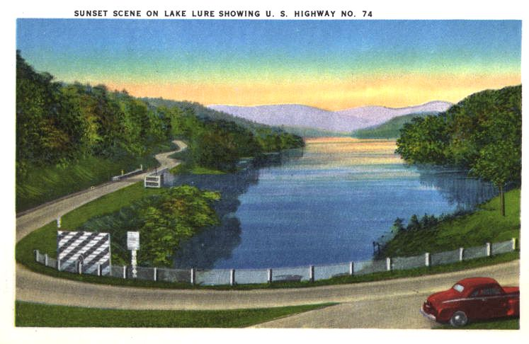 Lake Lure postcard highway 1