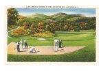 Lake Lure postcard golf1