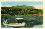 Lake Lure postcard canoe 4