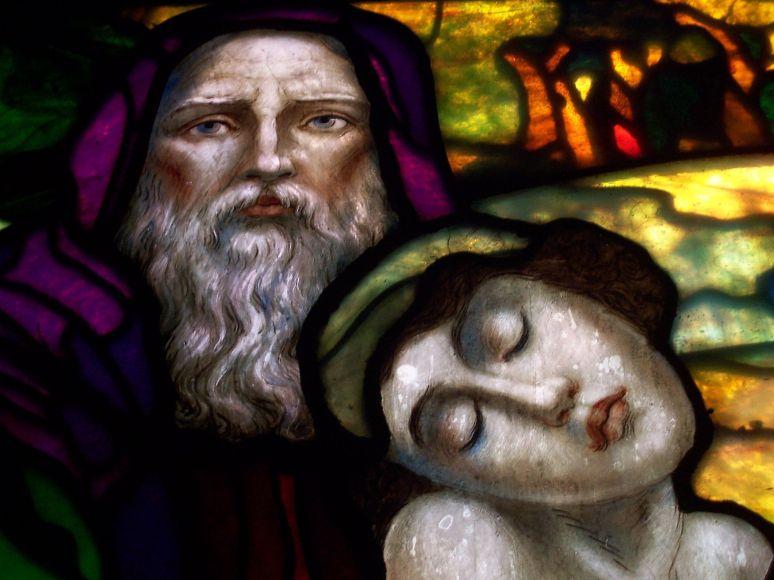 St. Francis Tiffany glass detail