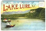 Lake Lure postcard boats 1