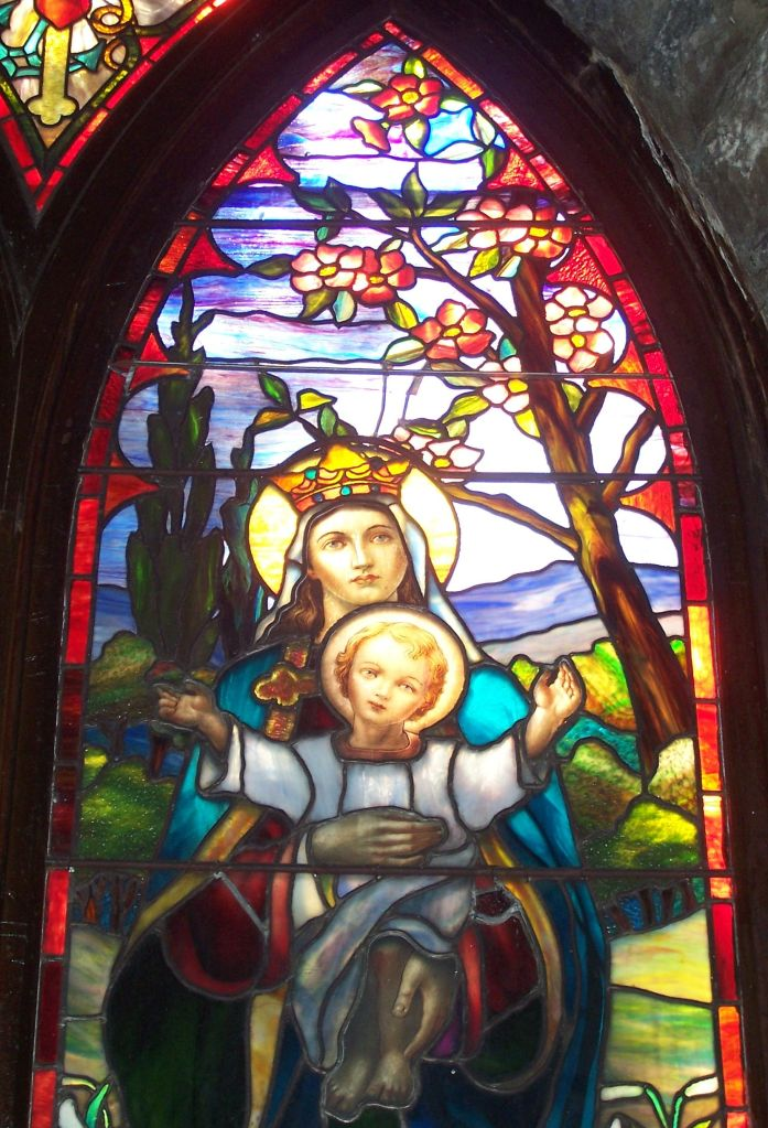 St. Francis Tiffany Mary and Baby