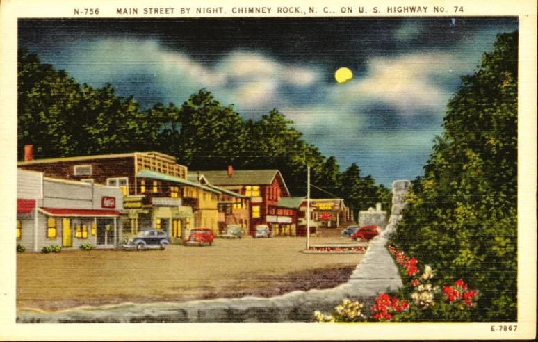 Chimney Rock Village postcard