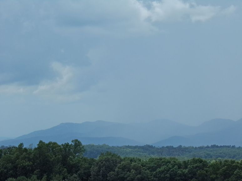 Rain along the Blue Ridge Escarpment