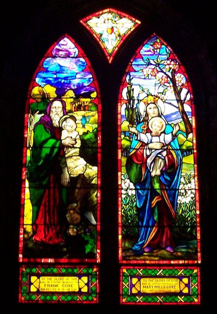 St. Francis Tiffany Double rear
