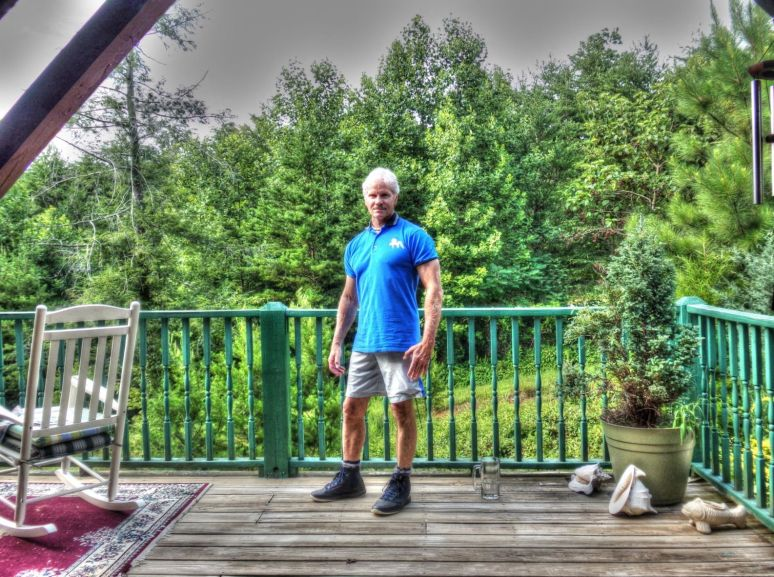 Vann on his Deck