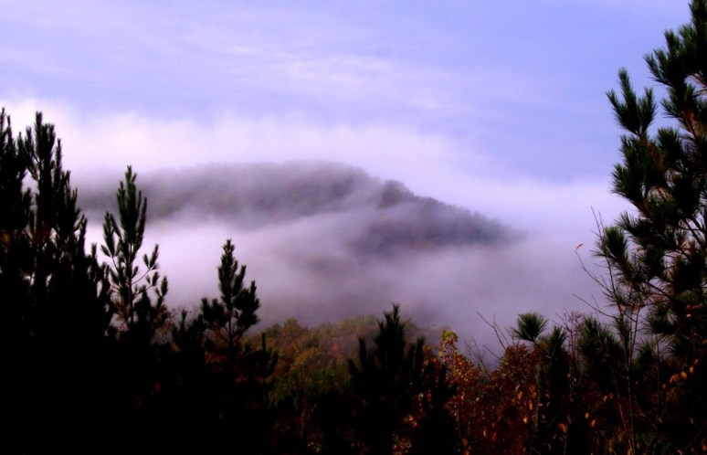 Dick's Mountain in Fog